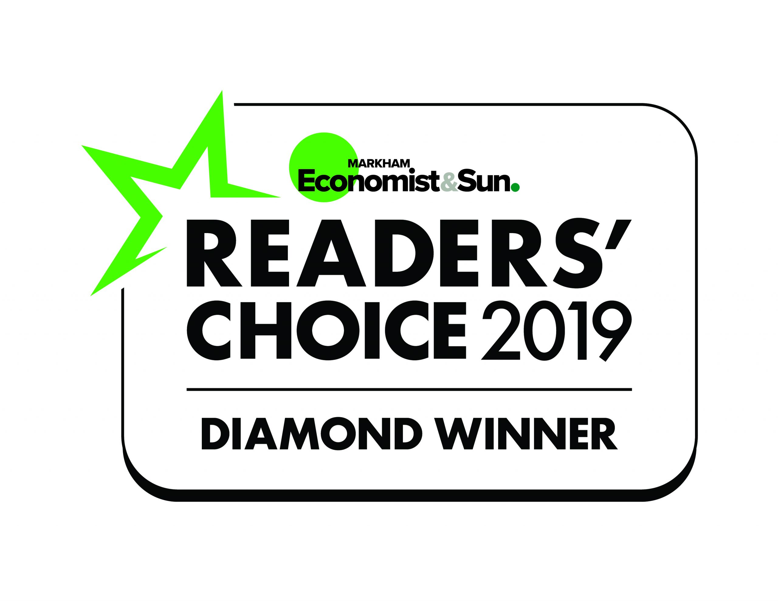 Readers Choice 2019 Diamond Winner